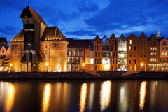 Gdansk, Poland down by the Motlawa river Stock Photography
