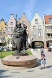 gdansk poland En monument till Svyatopolk II Po Arkivfoto