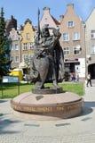 gdansk poland En monument till Svyatopolk II Pomeransky i solig dag Royaltyfri Bild