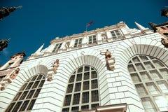 Gdansk, Poland Fachada de Artus Court foto de stock