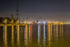 Gdansk, Poland, harbor at night. UE Stock Images