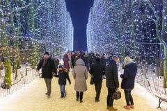 Beautiful winter illumination Royalty Free Stock Photos