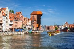 Free Gdansk, Poland - June 2, 2019: Architecture Of The Old Town In Gdansk At Motlawa River, Poland. Gdansk Is The Historical Capital Stock Photos - 158586953