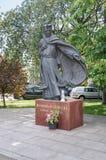 Gdansk, Poland - June 14, 2017: Monument of Polish Roman Catholic priest Marian Gorecki in New Port, Gdansk. Royalty Free Stock Image