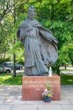 Gdansk, Poland - June 14, 2017: Monument of Polish Roman Catholic priest Marian Gorecki in New Port, Gdansk. Stock Photography