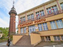 Free GDANSK, POLAND - MAY 1, 2018: Old Lighthouse In Nowy Port On 1 M Stock Photos - 118330493