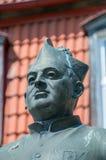 Gdansk, Poland - May 22, 2017: Close-up of monument of Polish Roman Catholic priest Bronislaw Komorowski Royalty Free Stock Images