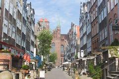 Mariacka street in Gdansk stock photos