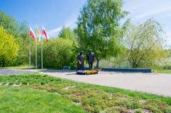 Gdansk, Poland - May 22, 2017: Monument of Pope John Paul II and President Ronald Regan at Ronald Regan Park in Gdansk-Przymorze. Stock Image