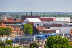 Newly built Forum mall in the city center of Gdansk stock photos