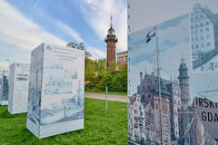 GDANSK, POLAND - MAY 1, 2018: Old lighthouse in Nowy Port on 1 M Stock Photography