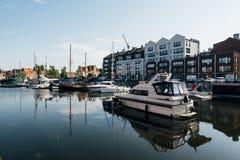 Gdansk Marina, Poland. Gdansk, Poland - May 10, 2018: Sailboats and luxury yachts moored in marina in Gdansk, Poland Stock Photos
