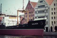GDANSK, POLAND - May 17, 2014: Ship in historic marine. Museum s Stock Photography