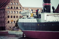 GDANSK, POLAND - May 17, 2014: Ship in historic marine. Museum s Royalty Free Stock Photo