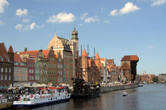 Gdansk (Poland). Motlawa river in Gdansk (Poland) on summer 2012 Royalty Free Stock Photography