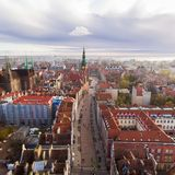 Old town of Gdansk, top view Royalty Free Stock Photo