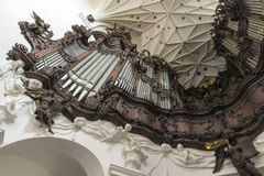 Gdansk. POLAND -OCTOBER 22, 2014: Great organ of Oliwa Archcathedral on 6 May 2013. Great Oliwa organ constructed between the years 1763 and 1788 contained Stock Image