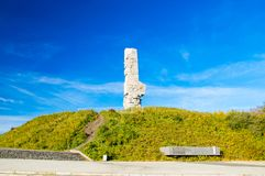 Westerplatte Monument in memory of the Polish defenders. Royalty Free Stock Photo