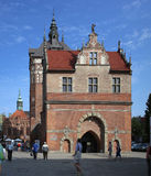 Gdansk, Poland. The old castle with facade and portal Royalty Free Stock Photos
