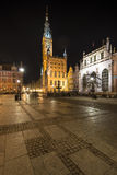 Gdansk, Poland, old city, town at night. Royalty Free Stock Images