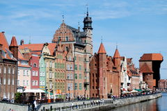 Gdansk, Poland: Old Quay Mansions royalty free stock photos