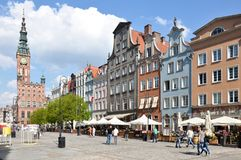 Gdansk, Poland Old Town. Gdansk, Poland, Old Town with the view to historical City Hall Royalty Free Stock Image