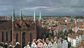Gdansk, Poland. Panoramic view. Royalty Free Stock Photo