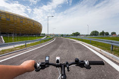 Gdansk, Poland. The road next to the football stadium. Stock Photography
