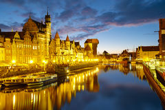 Gdansk,Poland,September 2016:Cityscape of Gdansk in Poland Royalty Free Stock Photo