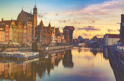 Gdansk,Poland,September 2016:Cityscape of Gdansk in Poland Royalty Free Stock Photography