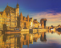Gdansk,Poland,September 2016:Cityscape of Gdansk in Poland Royalty Free Stock Images