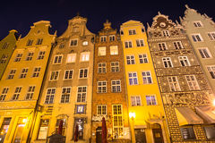 Gdansk,Poland-September 19,2015:Old town buildings in the centre Stock Photos