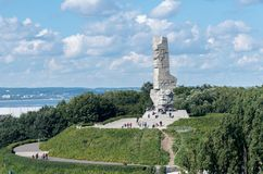 Westerplatte Memorial in Gdansk, Poland Royalty Free Stock Images