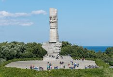 Westerplatte Memorial in Gdansk, Poland Royalty Free Stock Image