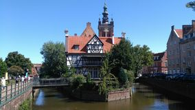 Gdansk Poland. Summer in old city Royalty Free Stock Images
