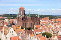 Gdansk - Poland. View on the city of Gdansk in Poland. The city is the historical capital of Polish Pomerania with medieval old town architecture Stock Photos