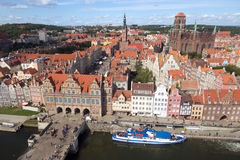 Gdansk - Poland. View over the historical city center of Gdansk in Poland royalty free stock photography