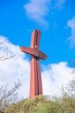 Gdansk, Polen - 18. April 2017: Jahrtausend-Kreuz auf Gradowa-Hügel Stockfotografie