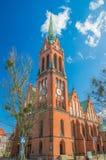 Gdansk, Polen - 11. April 2017: Militärkirche Catolic von Heiligen Peter und Paul gehören Gemeinde der Mutter des Erlösers Stockfoto