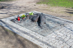 Gdansk, Polen - 18. April 2017: Monument von Opfern des Kriegsrechts in Polen Stockfotografie