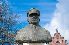Gdansk Polen - April 27, 2017: Monumentet av Tadeusz Ziolkowski Royaltyfri Bild