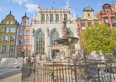 GDANSK, POLEN - 28. APRIL 2018: Neptun-Brunnen am 28. April 20 Stockbilder