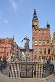 GDANSK, POLEN - 30. APRIL 2018: Neptun-Brunnen am 30. April 20 Stockfoto
