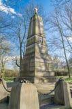 Gdansk Polen - April 11, 2017: Ryss tjäna som soldat `-monumentet på Gdansk grundade i 1898 Arkivbilder