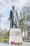 Gdansk Polen - April 27, 2017: Staty av den polska Roman Catholic prästen Henryk Jankowski Arkivbilder