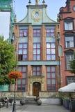 Gdansk, Polen 25. August: Artus Court im Stadtzentrum gelegen in Gdansk von Polen Lizenzfreie Stockfotografie