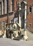 Gdansk, Polen 25. August: Eingang Rathauses (Ratusz) im Stadtzentrum gelegen in Gdansk von Polen Stockfotografie