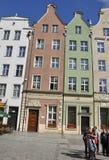Gdansk, Polen 25. August: Fassade der historischen Gebäude im Stadtzentrum gelegen in Gdansk von Polen Lizenzfreies Stockbild