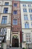 Gdansk, Polen 25. August: Fassade der historischen Gebäude im Stadtzentrum gelegen in Gdansk von Polen Stockbild