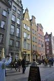 Gdansk, Polen 25. August: Historische Gebäude sehen Stadtzentrum in Gdansk von Polen an Stockbild